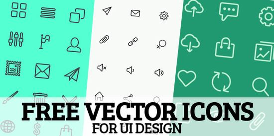 300+ Free Vector Icons for UI Design