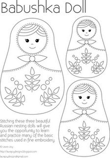 Cute stitched on a dress or top.... or coloured in.... how else could you use this nice idea....