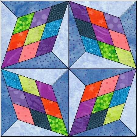 Four Block Star Pattern - Star Block - Instant Download - Paper Pieced Pattern - Foundation Pattern - Quilt Pattern - Block Pattern