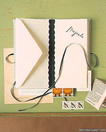 Envelope Books - Martha Stewart Crafts