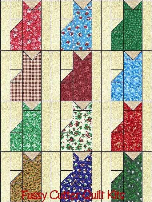 Cat Quilt Patterns Pinterest Christmas Holiday Kitty Cats Grab Bag Fabric Fast Easy Beginner Patchwork Pre Cut Quilt Blocks Cat Nix Quilt Patterns Cat Quilts Patterns