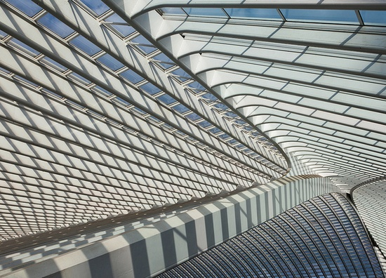 Futuristic Architecture, Construction, Modern Building, Liège-Guillemins X by Jeronim01