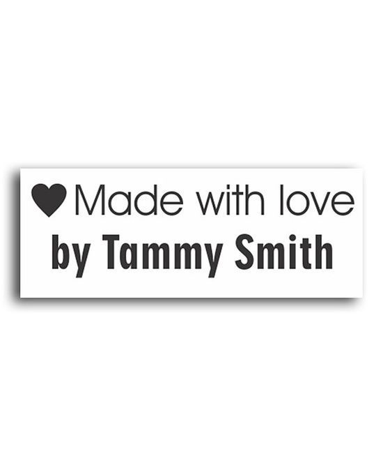 Take a look at this 'Made With Love' Personalized Self-Inking Fabric Stamp Kit on #soft skills #softskills #self personality