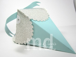 Treat holder using Stampin' Up's Petal Cone die.