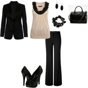 Classic style... Perfect top to wear under a black blazer to work.
