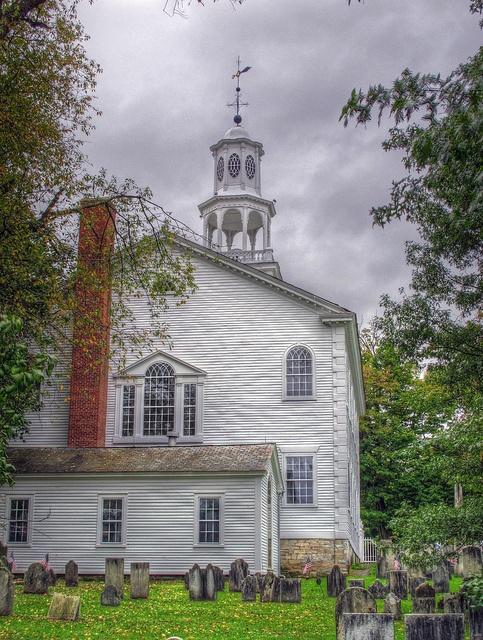 Christ Church, Bennington VT. Organized 1762, sanctuary dedicated 1806. Robert Frost is buried here.