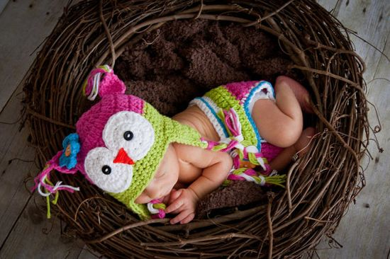 Love the nest, hat and diaper cover.