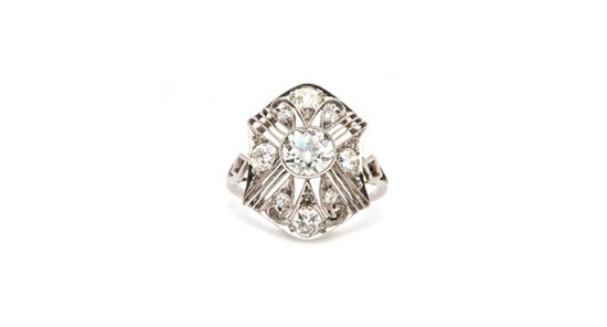 A one-of-a-kind vintage engagement ring // From: Scarlett Johansson's Engagement Ring Look-a-Likes // blog.theknot.com/...