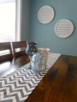 chevron table runner home decor