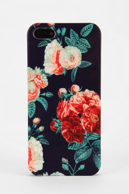 UO Navy Chintz iPhone 5 Case #urbanoutfitters