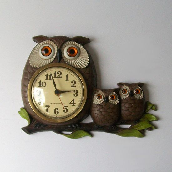 Retro owls from the 70's
