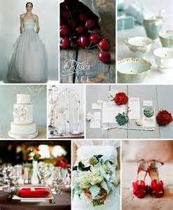 Red and mint wedding ideas