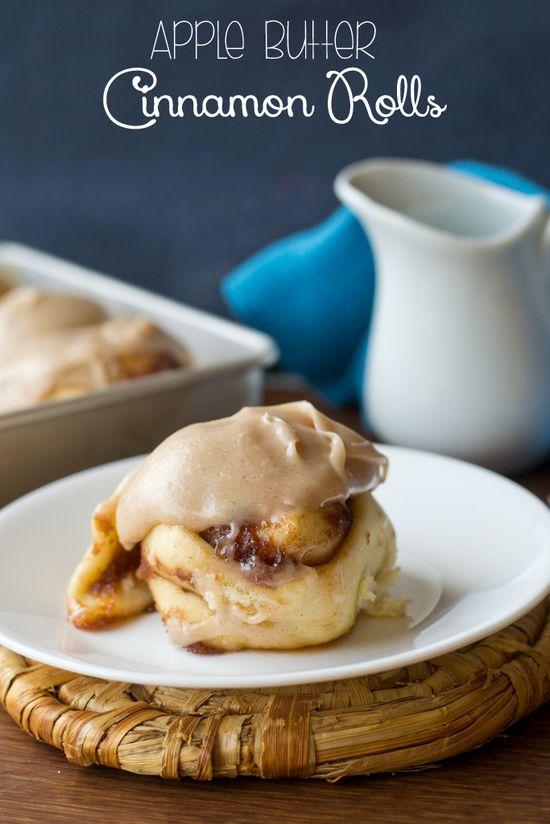 Apple Butter Cinnamon Rolls on MyRecipeMagic.com #cinnamon #rolls #apple #butter