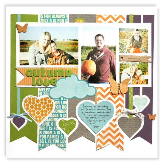 #papercraft #Scrapbook #layout    Autumn Love - Scrapbook.com {Try with CTMH's Dotty for You Kit}