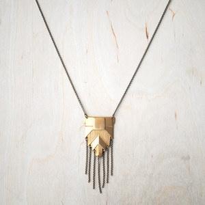 Shield Drop Necklace