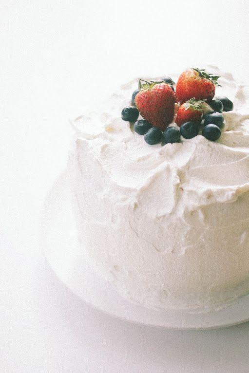 triple berry chiffon cake
