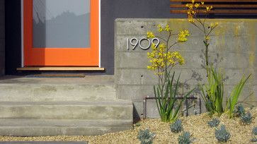 Orange Front Door Design Ideas, Pictures, Remodel, and Decor - page 6