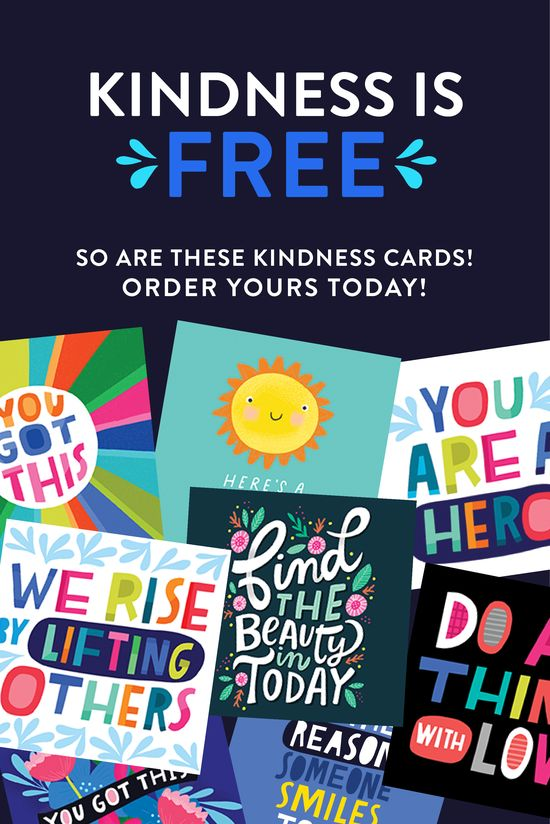 Lets SPREAD SOME KINDNESS with some FREE cards! Were living through challenging times for LOTS of reasons. Now, more than ever, KINDNESS is necessary. It may seem like a small gesture, but even little acts of kindness can lead to big change. To get a FREE set of cards, add them to your cart and only pay for shipping! Give them to your friends, family, total strangers or keep some for yourself. Kindness. PASS IT ON.
