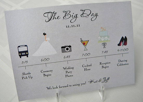 Love this itinerary for the bridal party!