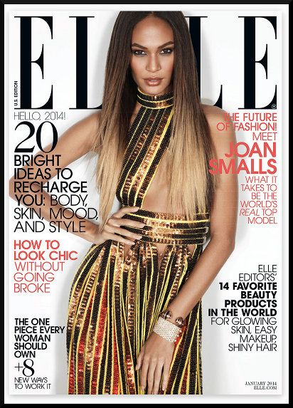 Joan Smalls, Elle Magazine, Black Fashion Models