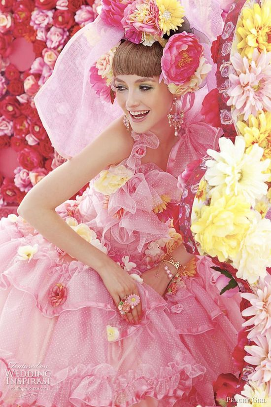 Cute pink wedding dress from peachy girl colletion