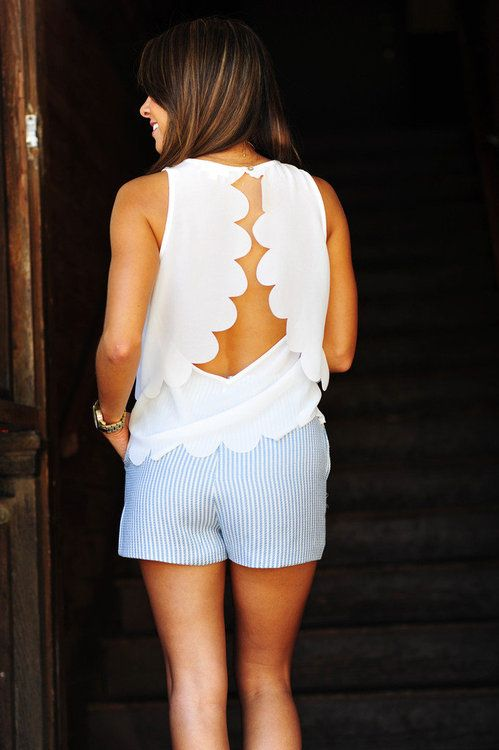scalloped back