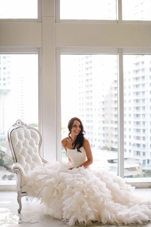 Could this bride be any more stunning in her amazing Vera Wang wedding dress? photo by Becca Borge Photography