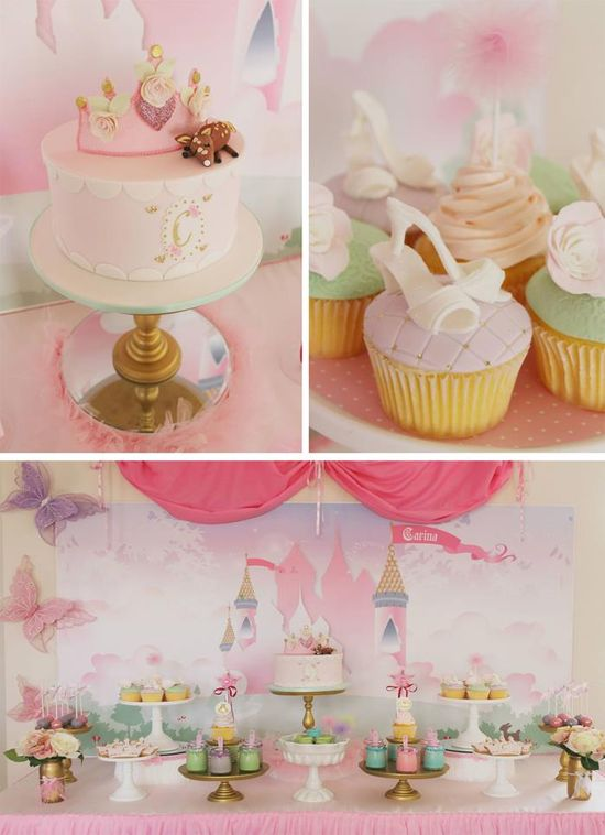 Pastel Princess Party with So Many Darling Ideas via Kara's Party Ideas