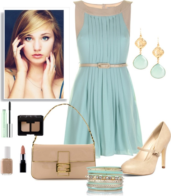"""Baby Blue"" by imclaudia-1 ❤ liked on Polyvore"