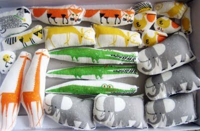 easy stuffed animals from print fabric