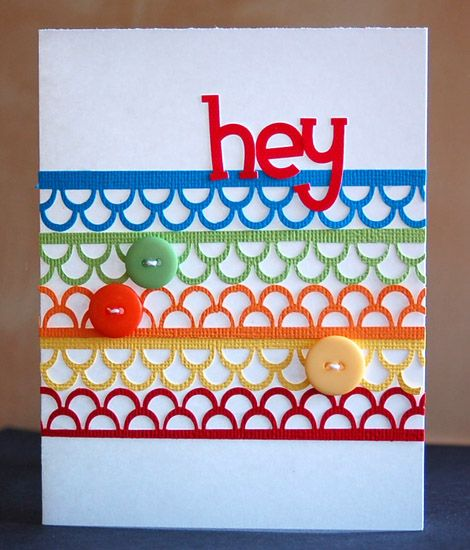 cute greeting cards card made with border punchesteri