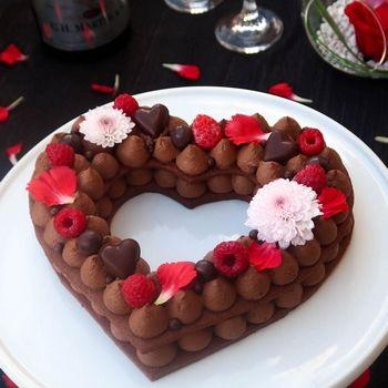 Heart cake / Gâteau coeur au chocolat {Saint-Valentin}
