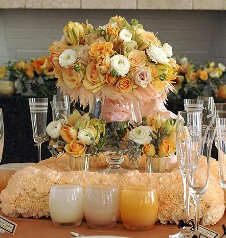 romantic vintage reception wedding flowers,  wedding decor, romantic vintage chic wedding flower centerpiece, pink peach wedding flower arrangement, add pic source on comment and we will update it. www.myfloweraffai...