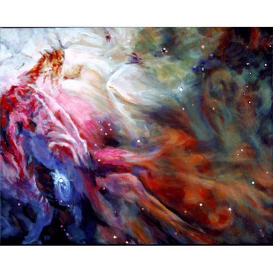 The Orion Nebula An Original Painting on Canvas