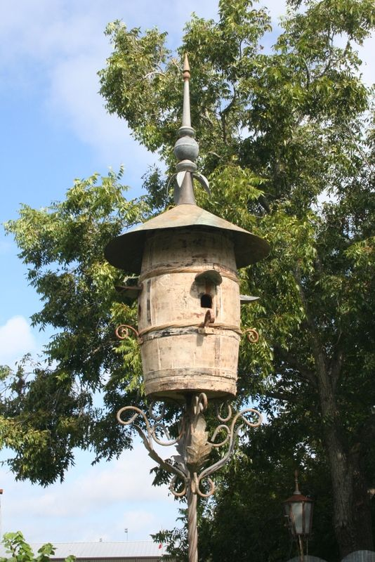 Barrel Birdhouse by Ludmil Marcov....