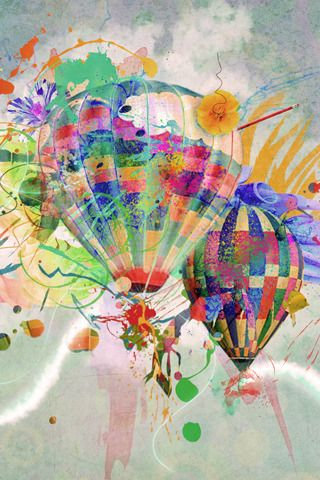 Abstract Hot Air Balloons iPhone Wallpaper HD.   You can download this free iPhone Wallpaper for your iPhone 3g, iPhone 3gs, iPhone 4, iPhone 4s & iPhone 5 from:   www.iphonewallpap...