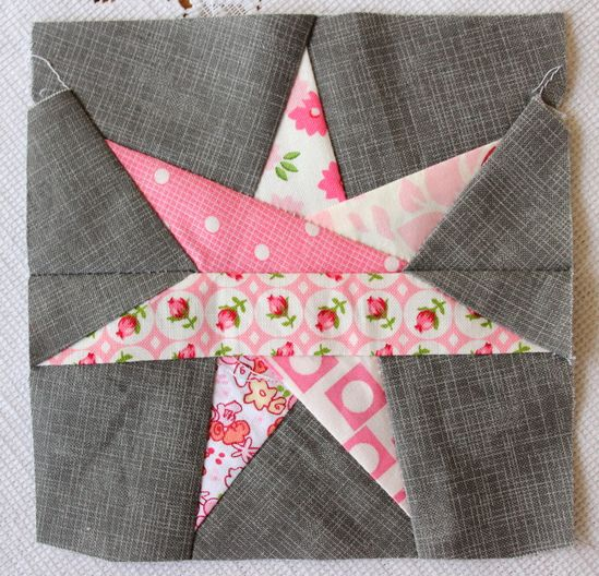 7 Point Star Block made with pattern from Sew Hooked