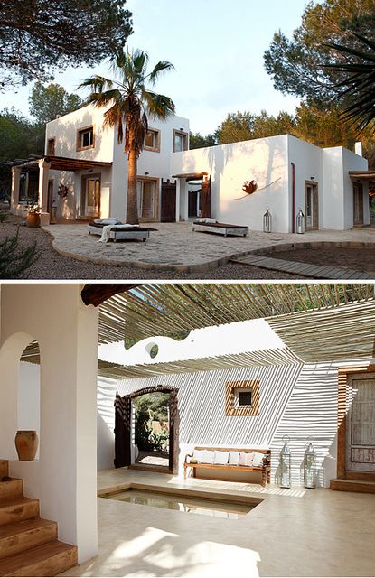 Pretty lines.....a modern rustic home on formentera by the style files, via Flickr
