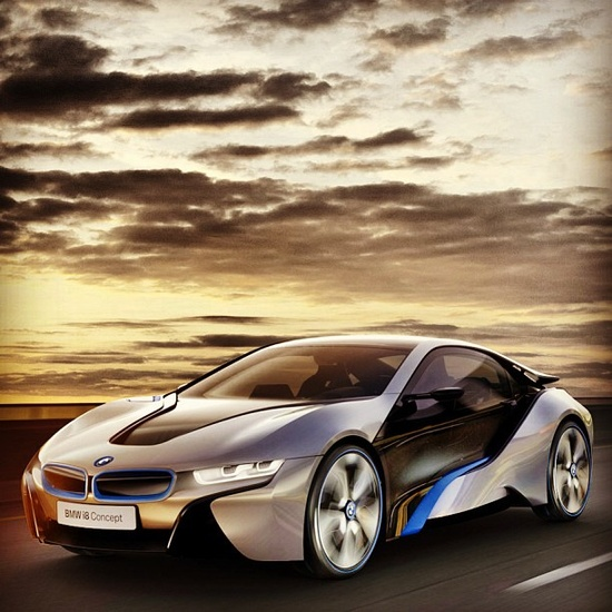 Epic photo! Perfect sunset for the perfect car! BMW i8 concept!