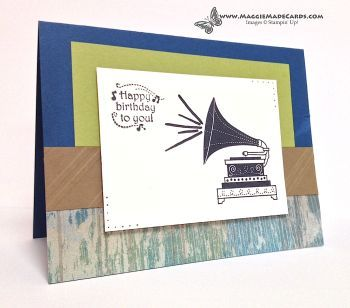 Timeless Talk, Masculine Handmade Birthday Card, Stampin' Up!, Maggie #nwa express yourself #handmade crafts ideas #handmade birthday card #handmade ice cream #snap your fingers