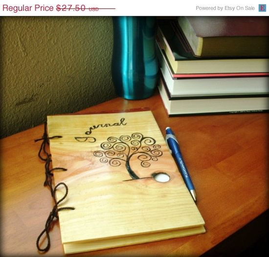 CIJ SALE Wooden Tree Journal  Notebook by BillsWoodenPleasures, $24.75