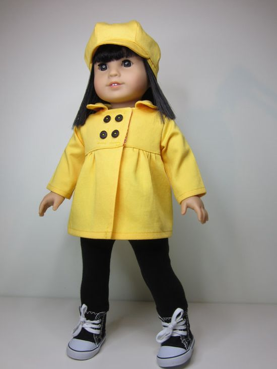 American girl doll clothesButtercup yellow Empire by JazzyDollDuds, $24.00