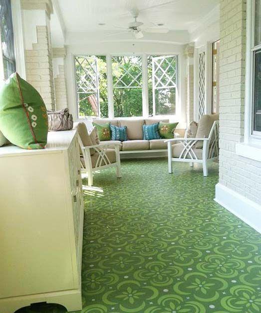 Billet Collins hand painted floor