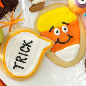 Candy Corn Conversation Cookies Recipe from Taste of Home