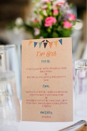 gorgeous kraft invitations with bunting