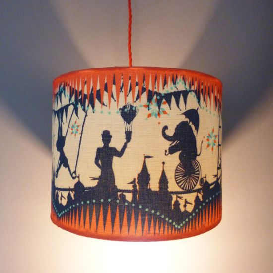 Smaller Circus Carousel Pendant Lampshade by ButterscotchBeesting, £39.00