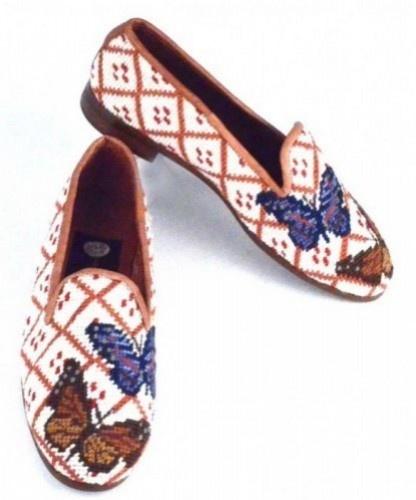 Butterflies Needlepoint Loafer