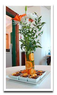 Citrus and Floral Centerpiece