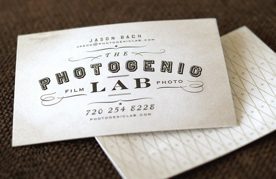 The Photogenic Lab business card - Eric Kass