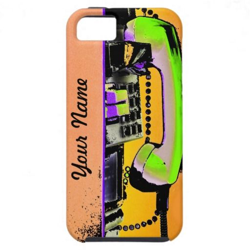 Colorful pay phone case iPhone 5 cover